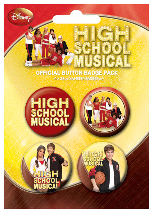 HIGH SCHOOL MUSICAL - gym Badge Pack